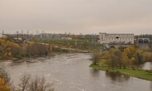 Вид на Ивангородскую ГЭС