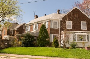 Типичные американские дома по пути в Филадельфию